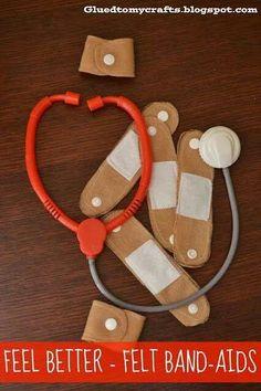 felt bandaids for dr kit