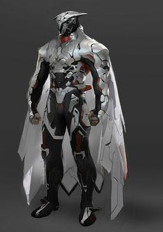 Fantasy Character Design, Character Design Inspiration, Character Concept, Character Art, Futuristic Armour, Futuristic Art, Robot Concept Art, Armor Concept, Fantasy Armor