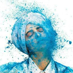 #HOLI Person getting hit with powder (1)