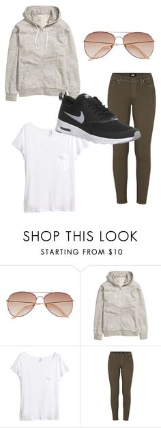 """Untitled #7"" by getxfreex on Polyvore featuring H&M, Paige Denim and NIKE"