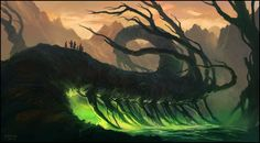 Swamp Tree, Andreas Rocha on ArtStation at http://www.artstation.com/artwork/swamp-tree