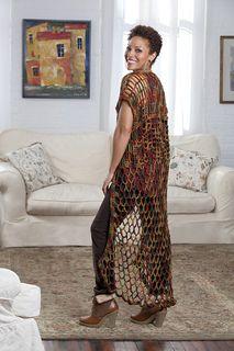 Whimsical Boho-Chic Duster: FREE crochet pattern