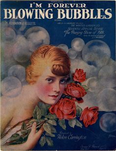 Sheet music cover for I'm Forever Blowing Bubbles; from The Passing Show of 1918