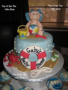 beach theme baby shower cake - Google Search