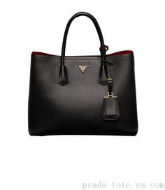 Luxury #Prada Saffiano Cuir Double Tote Bag Outlet store HMSFEURGOT