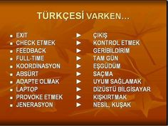 Turkish Language, English Language, Learn Turkish, Knowledge, Student, Education, Learning, Words, English People