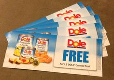 Dole free product coupons
