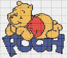 Trendy Knitting Charts Disney Winnie The Pooh Ideas Disney Cross Stitch Patterns, Cross Stitch For Kids, Cross Stitch Baby, Cross Stitch Charts, Cross Stitching, Cross Stitch Embroidery, Embroidery Patterns, Beading Patterns, Stitch Character