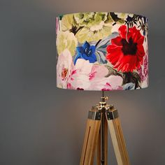 designers guild orangerie fabric lampshade by quirk   notonthehighstreet.com