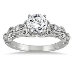 1.00ct D/VVS1 Round Diamond 14k White Gold Engagement Wedding Bridal Jewelry #Jewelsbyeanda