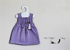 Purple/lavender baby dress with liberty ribbon and little bow Robe d'été bébé coloris Lavande, collection Liberty, 9 mois #chatsmaillerient