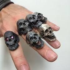 Gothic Jewelry Diy Výsledek obrázku pro into the fire jewellery - Skull Wedding Ring, Skull Engagement Ring, Silver Skull Ring, Wedding Rings, Skull Rings, Piercings, Jewelry Gifts, Jewelry Accessories, Jewelery
