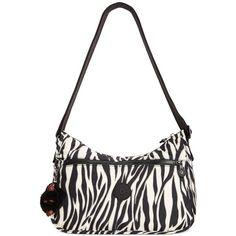 Kipling Sarajane Crossbody (3.520 RUB) ❤ liked on Polyvore featuring bags, handbags, shoulder bags, black zebra, monkey purse, kipling crossbody, animal print handbags, nylon purse and nylon shoulder bag