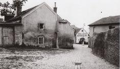 Průhled z dřívější Markétské na vršek návsi (1940)