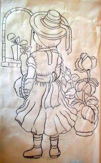 Arte * Vida: Risco de Menina das flôres!