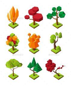 Isometric Polygonal Trees #Isometric, #Polygonal, #Trees