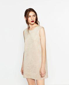 ZARA - WOMAN - FAUX SUEDE DRESS