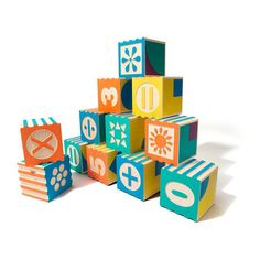 Groovie Math Blocks from Uncle Goose Wooden Alphabet Blocks, Math Blocks, Plan Toys, Stacking Toys, Natural Toys, Decoration Design, Painting Patterns, Pattern Blocks, Pattern Making