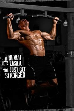 It never gets easier, you get stronger!