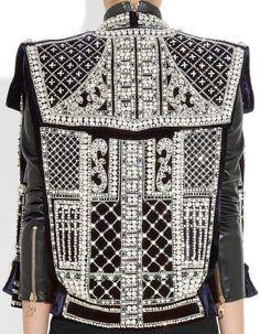 Balmain Fall 2012 Embellished Velvet Vest