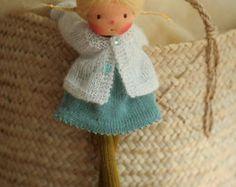 """Muñeca Waldorf, muñeca suave, muñeca hecha punto Amalia 14"""", muñeca de trapo, muñeca hecha a mano por Peperuda muñecas, muñeca suave, muñeca de arte"""
