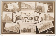 RP: 8-view postcard , GRUNDY CENTER , Iowa , 00-10s