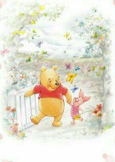 Walk in garden with Winnie & piglet