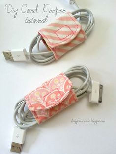 bag made of scrap material | Made by Me. Shared with you.: Tutorial: DIY Cord Keeper From Fabric ...
