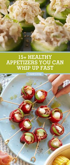 Treat your guests to these starters and hor d'oeuvres that pack flavor—not calories. Here you'll find light and easy recipes for parties, family gatherings, holidays, and more.