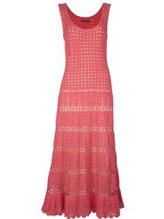 Длинное платье крючком