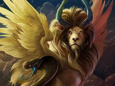 The Chimera. In Greek mythology the Chimera is a beast with two heads. One a goat head and one a lion. It also has a snake tail. Fantasy Kunst, Fantasy Art, Magical Creatures, Beautiful Creatures, Greek Mythical Creatures, Greek Mythological Creatures, Gods And Goddesses, Fantasy World, Beast