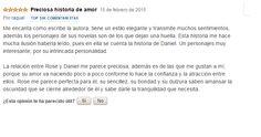 Comentario de Raquel para El hechizo del ángel en Amazon.es