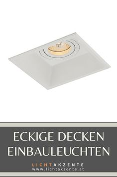 Eckiger  Einbaustrahler Sula GU10 - online entdecken bei Lichtakzente.at: Viereckiger Deckenspot mit rückversetzten Leuchtmittel sorgt für einen besseren Sichtkomfort (keine Blendung). Der Deckenspot ist geeignet für: Wohnzimmer, WC, Diele, Flur, Schlafzimmer, Esszimmer, Kinderzimmer, Küche// Deckenspots eckig, Einbauspots, Deckeneinbauspot, Einbauleuchten Decke eckig #beleuchtung decke #deckenspots wohnzimmer modern #spots #lampen und leuchten #lichtakzente Contemporary Light Fixtures, Ceiling Lights, Ceiling Light Living Room