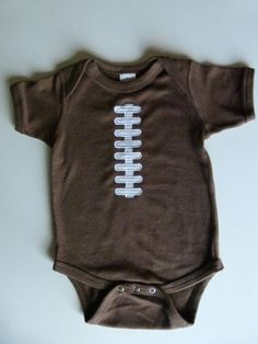 Football Baby Applique Onesie  Laces Can Be Done In by mamabijou, $15.00