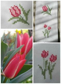 Kalandjaim a tűvel. My adventures with the needle. Beaded Embroidery, Cross Stitch Embroidery, Hand Embroidery, Cross Stitch Patterns, Cross Stitch Numbers, Stitch Cartoon, Lavender Bags, Knitted Flowers, Cross Stitch Flowers