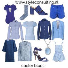 Welke kleur blauw moet jij kiezen? | Style Consulting Best Color, Color Type, Cool Winter, Seasonal Color Analysis, Color Me Beautiful, Season Colors, Body Shapes, Capsule Wardrobe, Perfect Fit