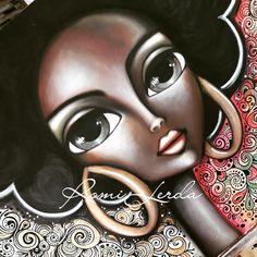 Diy Crafts For Gifts, Arts And Crafts, Rasta Art, Abstract Face Art, Frida Art, Painted Clothes, Big Hair, Big Eyes, Grande