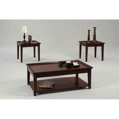 Progressive Furniture Cocktail and 2 End Tables - Tobacco - P577-95