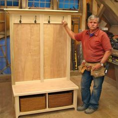 """entry way bench ask this old house - install as """"built-in"""" next to door"""