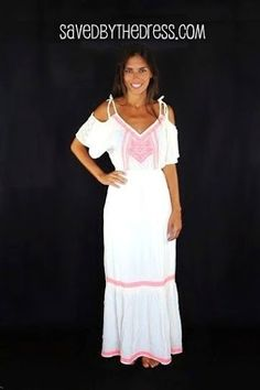0f7269ac883 Open Shoulder Off White Maxi Dress
