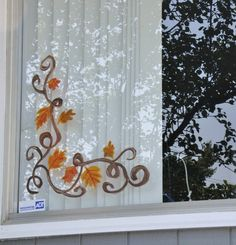 Christmas Window Painting Ideas | We decided to do something non Halloween. That way we can leave it up ...