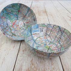 Papier-mâché Small Map Bowl | Among Women