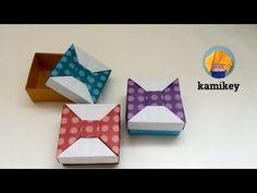 【折り紙】 リボンの箱2 Origami Bow Box 2(カミキィ kamikey) - YouTube