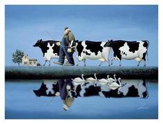 Delta Cows Posters van Lowell Herrero bij AllPosters.nl