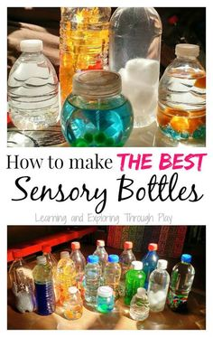Learning and Exploring Through Play: DIY Sensory Bottles Sensory Tubs, Sensory Activities Toddlers, Autism Sensory, Sensory Boxes, Baby Sensory, Infant Activities, Sensory Play, Infant Sensory, Autism Activities