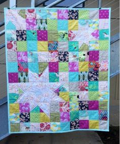 The Fabric Studio: Star Patchwork Baby Quilt