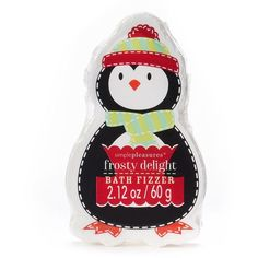 Simple Pleasures Penguin Frosty Delight Bath Fizzer () ($1.65) ❤ liked on Polyvore featuring beauty products, bath & body products, body cleansers and simple pleasures