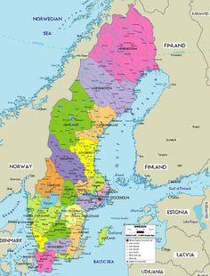 Map Of Sweden Mentioned By C Pinterest Sweden Sweden Map - Sweden map mountains