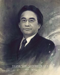 A tribute artwork for Satoru Iwata. He was working until the very end, only recently looking into ways to expand Nintendo as a company. Fans and gamers alike would have argued with his decisions, but in the end he loved gaming and Nintendo. Thank you.