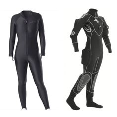 Sharkskin chillproof + Scubapro Everdry 4 Dry Suit for cold water & ice diving.